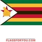 5' x 8' Zimbabwe High Wind, US Made Flag