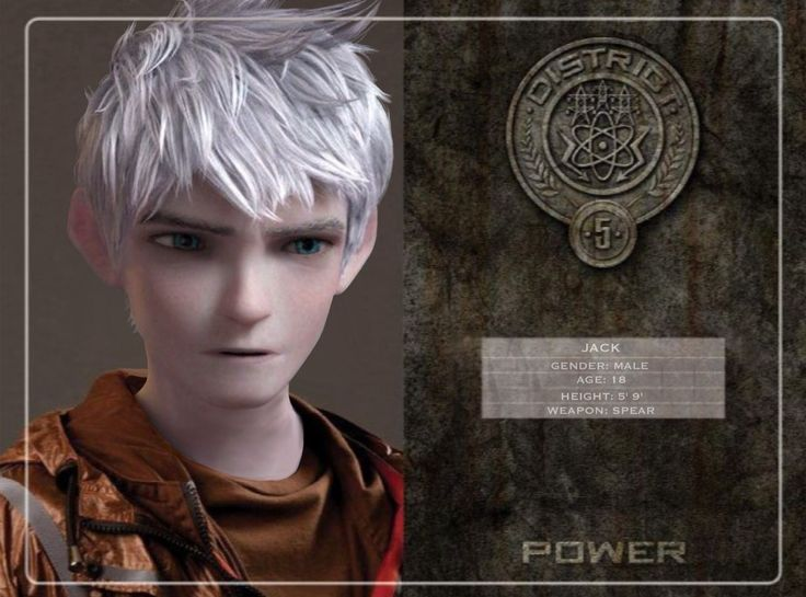 Jack Frost in Hunger Games by Fate221.deviantart.com on @deviantART. I hope that the rest of the Big Four have this. :-)