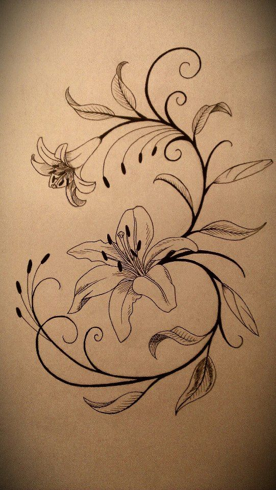 Lily Tattoo Design by fallenangel0717.d... on @deviantART