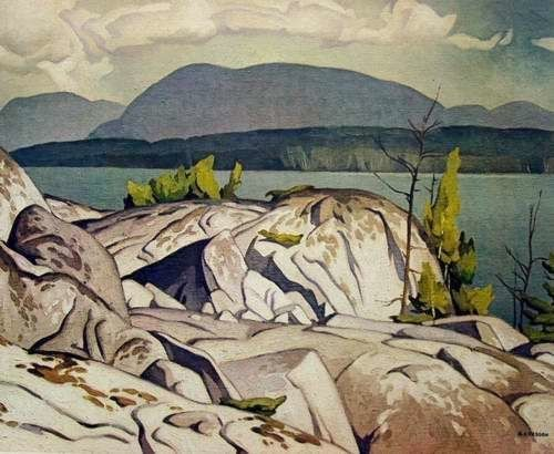 A.J. Casson-Group of Seven.  Birch Island, in the Manitoulin District of northern Lake Huron.