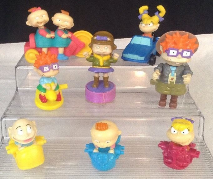 1998 Rugrats Burger King Nickelodeon Toys LOT Of 8 Figures Tommy Chuckie Phil  #Nickelodeon