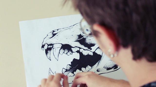 Time Lapse - hand drawing process by Blanka. Processo manual da ilustração Time-Lapse