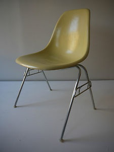 1950s all original vintage eames stacking side shell chair herman