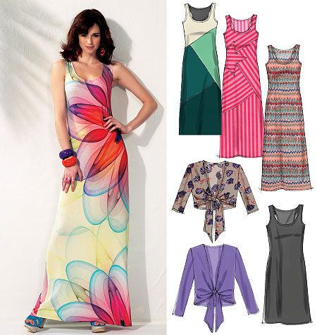 Dressmaking Sewing Pattern M6559 Ladies Stylish Dresses Size 14 - 22 NEW I think I need to make a few of these for summer.