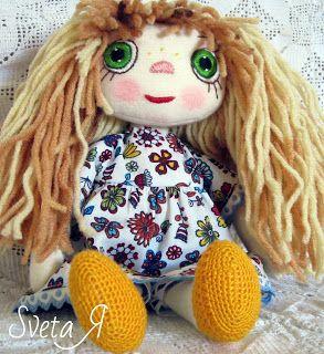 ΥΠΕΡΟΧΕΣ ΔΗΜΙΟΥΡΓΙΕΣ: Светочка - игровая кукла из ткани
