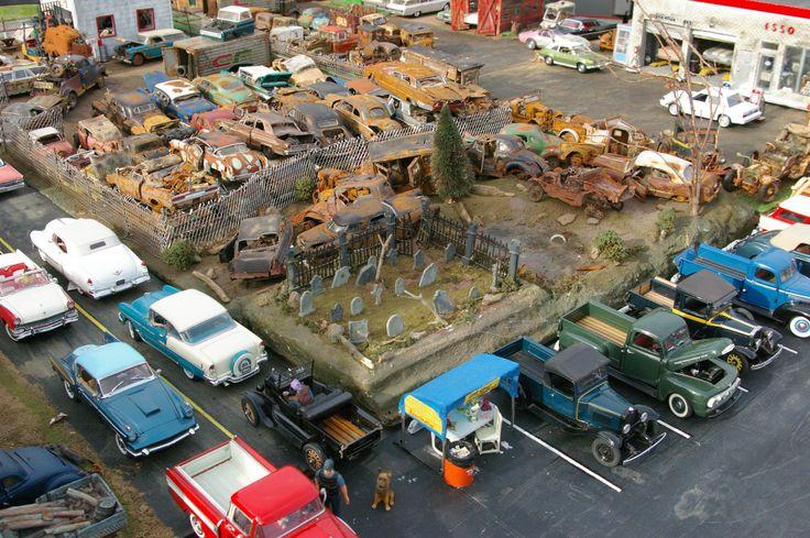junkyard diorama