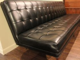 Exceptional Tufted Black Leather Vinyl Vintage Couch Sofa Slideshow By Traviswayde