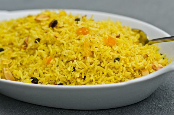 Basmati Pilaf with Dried Fruits and Almonds | Recipe ...