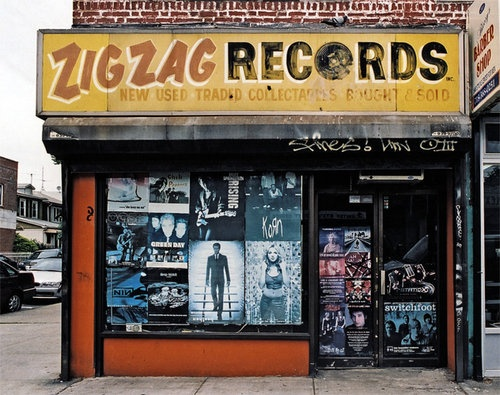 Record store.  Closed 2014. One of the Best in the outskirts of Brooklyn. On U. Who remembers the Glen Cove store?