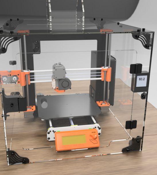 3DUPFitters Prusa i3 MK3S and MK2 Acrylic Enclosure Kit   3d printer enclosure. Enclosure. 3d printer