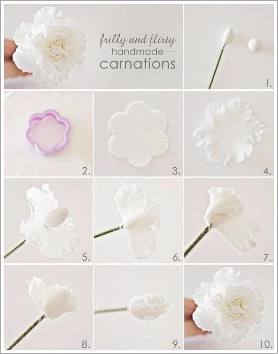 #gumpaste carnation flowers tutorial
