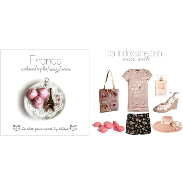France - necklace - Le chat gourmand by Alixia, created by alixia88.polyvore.com
