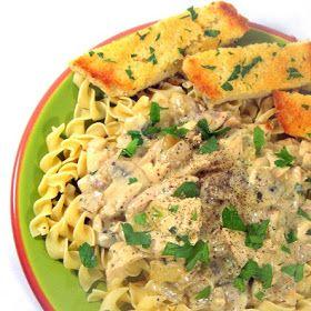Inspired By eRecipeCards: Chicken Mushroom Stroganoff over Egg Noodles