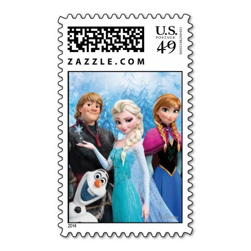 Send out your Frozen birthday invitations with these Disney Postage Stamps