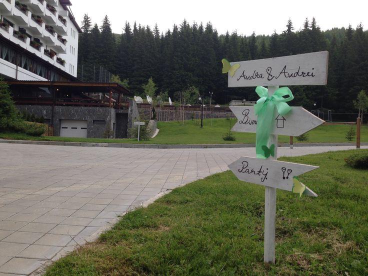 Wedding sign - Hotel Pestera