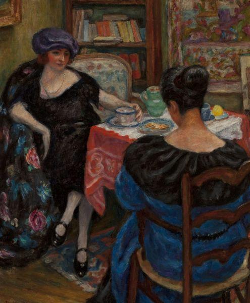 Filiżanka herbaty (Wizyta) - Józef Pankiewicz