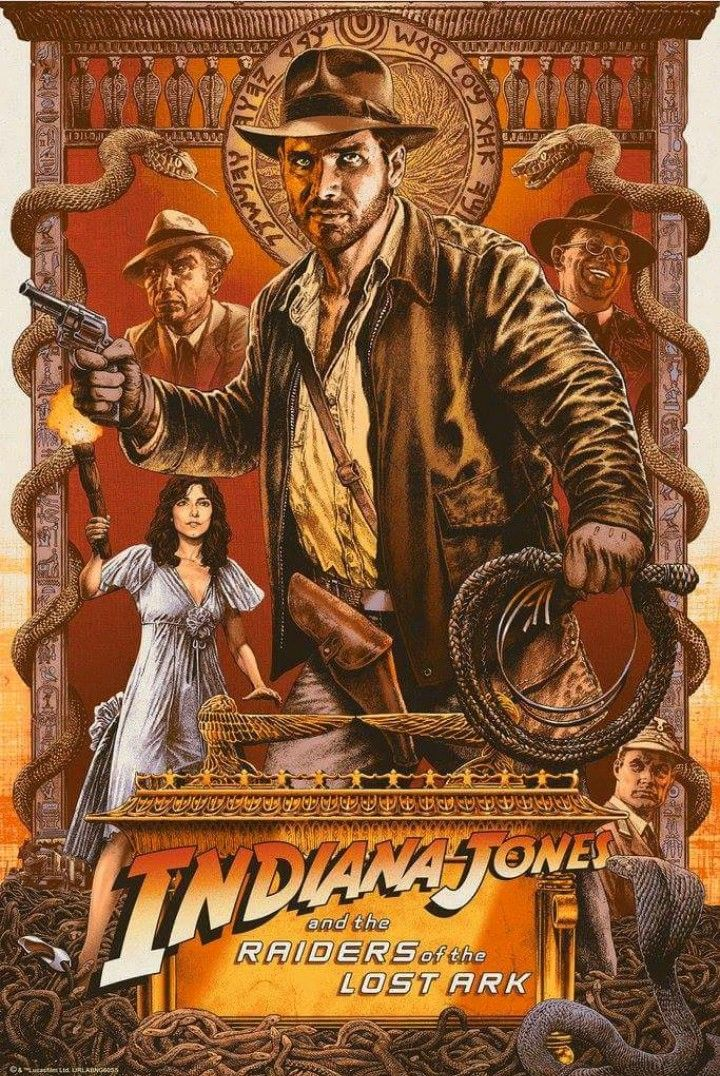Indiana Jones The Riders of The Lost Arc Film Canvas Wall Art Movie Poster Print