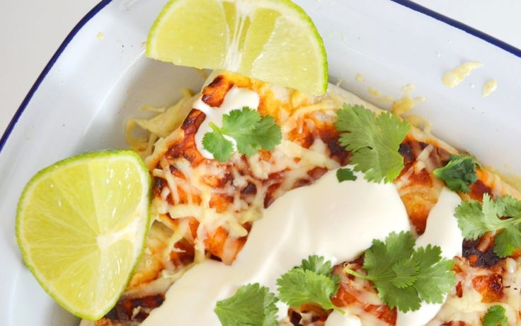 Three Bean Enchiladas with Cascabel Chilli Sauce - Sal's Kitchen for Chilli Pepper Pete