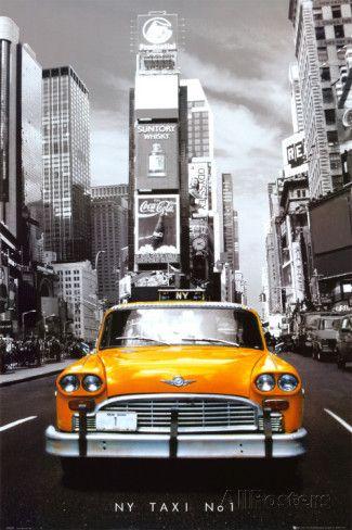 Nova York Taxi nº. 1, em inglês Fotografia na AllPosters.com.br