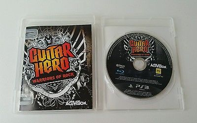 Playstation 3 Guitar Hero Warriors of Rock Game Disc Activision