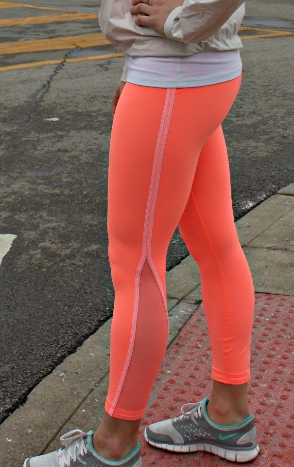 Neon running tights. I'll take some in electric yellow too, please.