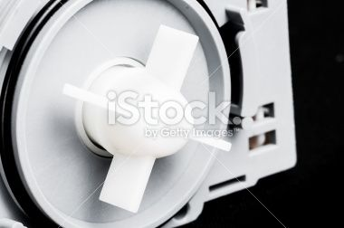 Motor and plastic impeller for a water pump Royalty Free Stock Photo