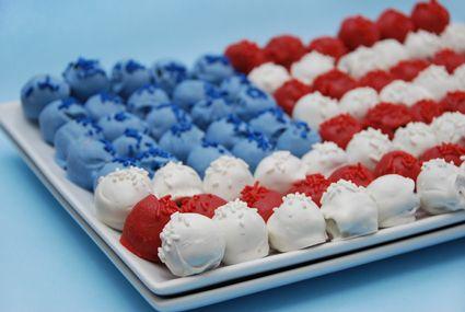 Cake Ball Flag - cute!