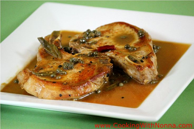 Italian pork chops..try without the lemon and capers and maybe it will be similar to the one I had in Italy....