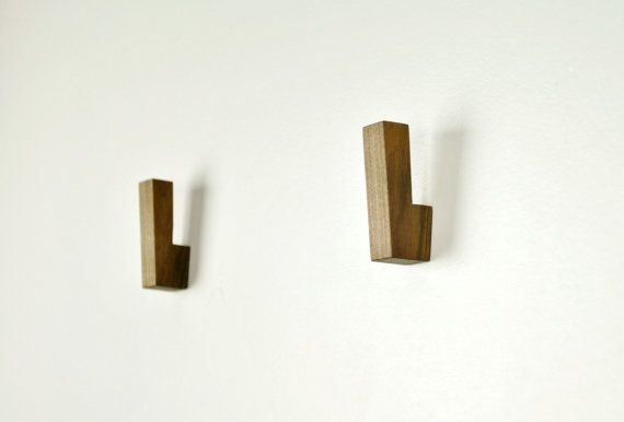 Wooden Wall Hooks / Wooden Coat Hooks by fmcdesign on Etsy