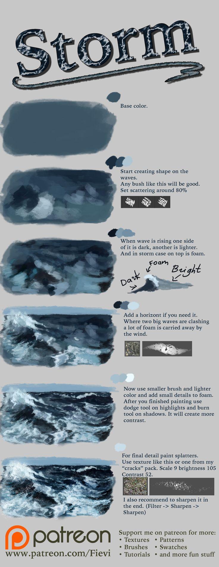 Storm tutorial by NThartyFievi.deviantart.com on @DeviantArt