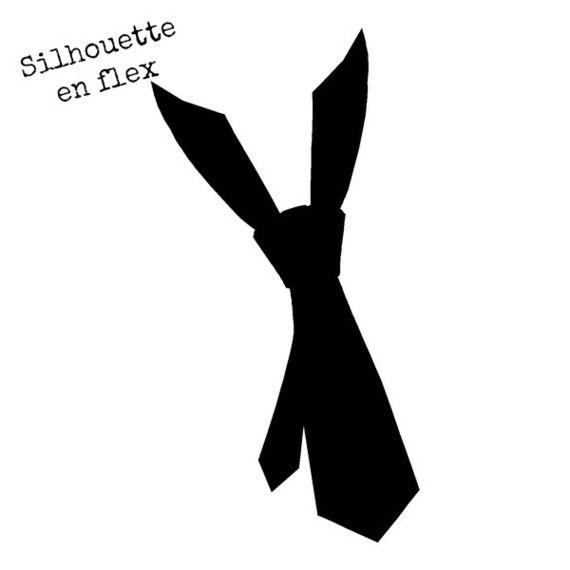 Silhouettes cravate en FLEX 8 cm couleur au choix