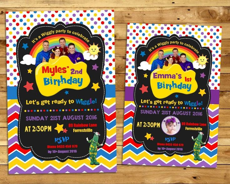 THE WIGGLES PERSONALISED INVITATION INVITE BIRTHDAY PARTY BOY GIRL DOROTHY…
