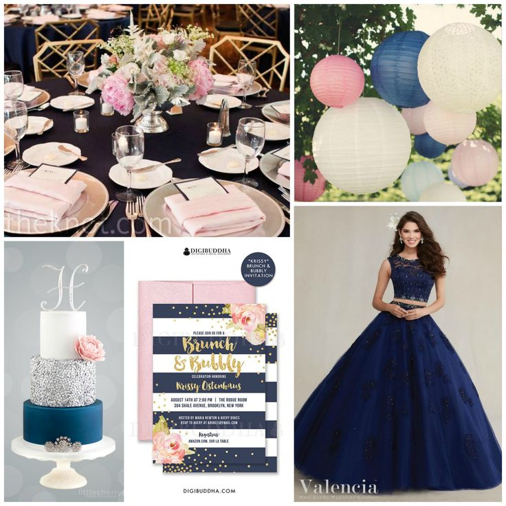 Darker tones rule your closet? Pink & navy were made just for you! Add stripes or lace to your cake, invitations, and bouquet to upscale the final look of the reception. Decorate your ceilings with lights and pom-poms. - See more at: http://www.quinceanera.com/decorations-themes/unexpected-pink-color-combinations-that-look-amazing/?utm_source=pinterest&utm_medium=social&utm_campaign=article-021416-decorations-themes-unexpected-pink-color-combinations-that-look-amazing#sthash.wD5brziY.dpuf
