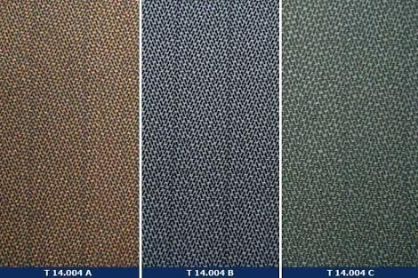 Chevron - tecido de ligamento espinha de peixe, de origem francesa, que imita o desenho  do chevron (divisas militares), muito usado em confecções masculinas.