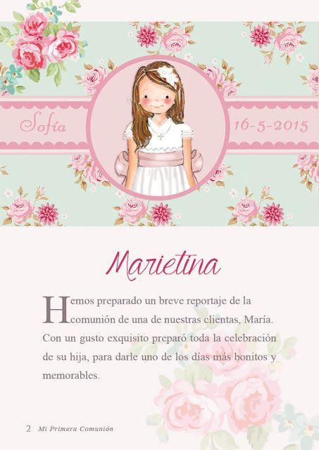 MARIETINA RECORDATORIOS PRIMERA COMUNION
