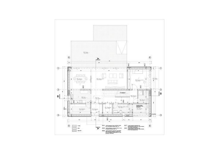 Projekt domu jednorodzinnego pod Warszawą plan parteru