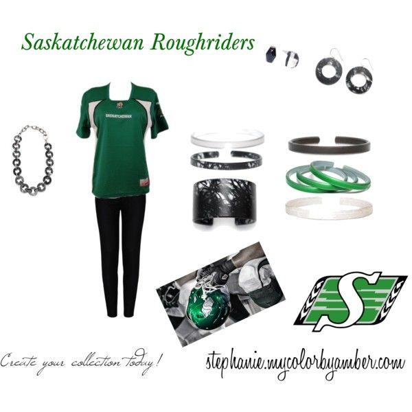 """""""Saskatchewan Roughriders"""" by stephanie-pipke on Polyvore stephanie.mycolorbyamber.com"""