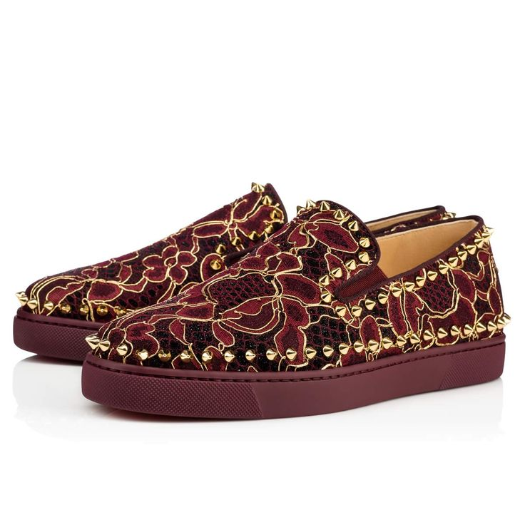 Christian Louboutin Mary Jane Zapatillas granate