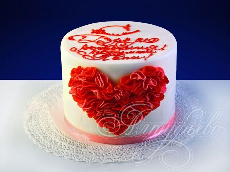 Подарочный торт ты в сердце моем № 700