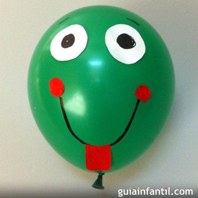 Cómo hacer una rana con un globo