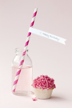 Glass bottle, straw and drink- so pretty    Vintage Little Glass Milk Bottles - Pink Frosting Party Supplies    #pinkfrosting.com.au  @Julia Richey Frosting