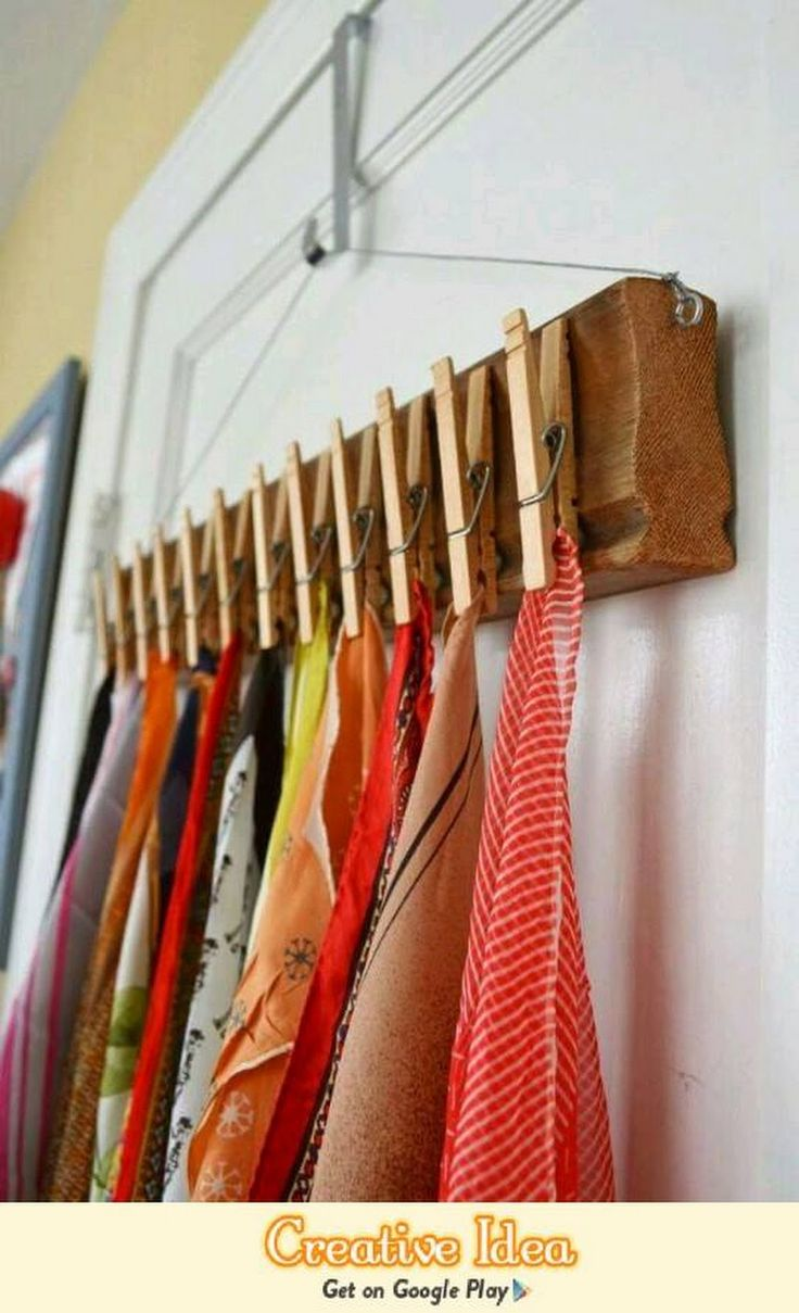 Great way to store scarves, or even socks.