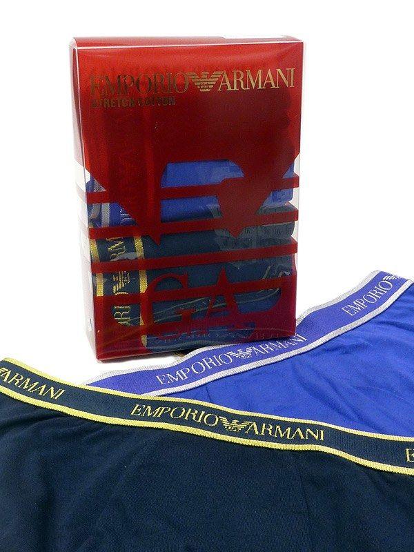 2 Pack Boxers Armani. CAJA REGALO compuesta por dos boxers de algodón elastizado para un ajuste perfecto. + opciones de regalo para hombre en varelaitnimo.com