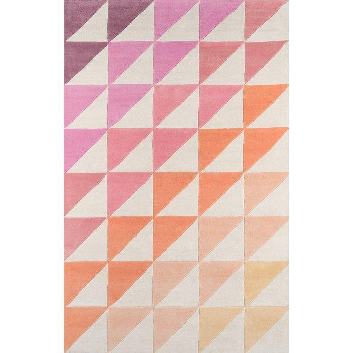 Agatha Side Hand Tufted Pink/Brown Area Rug | AllModern
