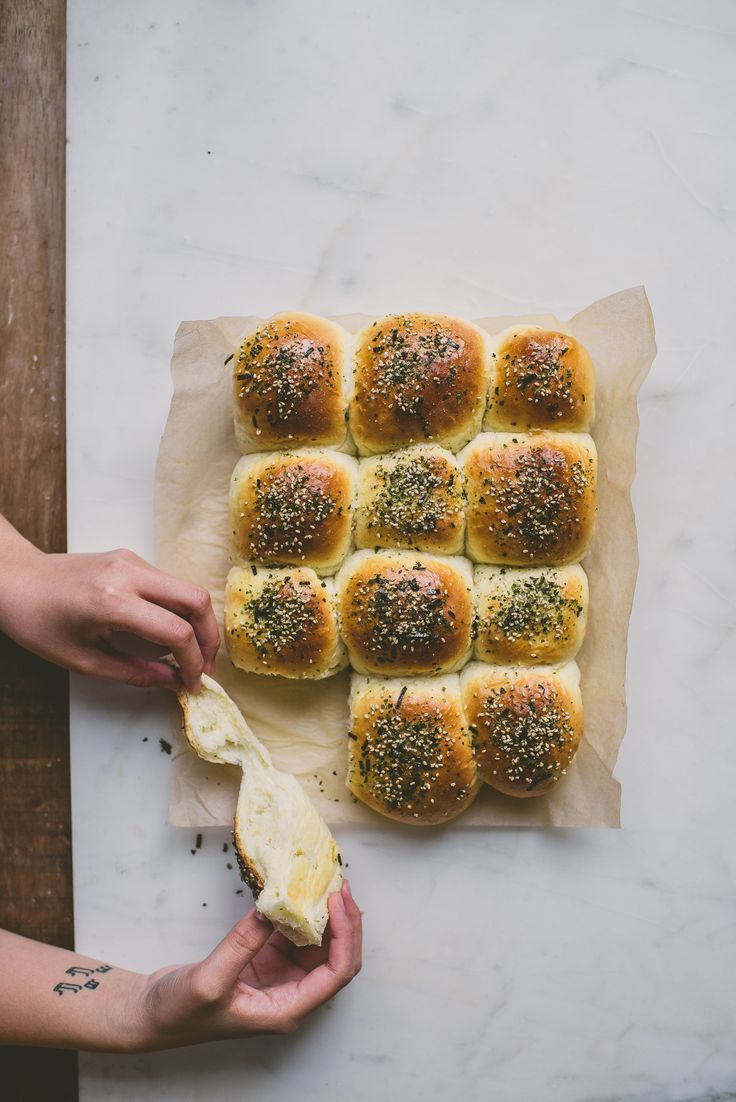 furikake, a seaweed   sesame seed mix usually paired with rice, is sprinkled generously over super soft, pillow-y light milk bread buns to create a crunch.