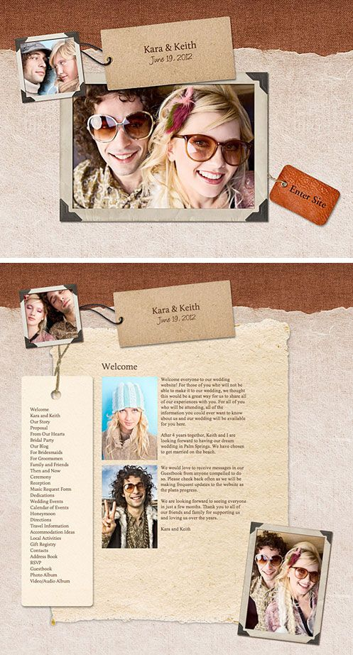 Super Cute Wedding Website Template