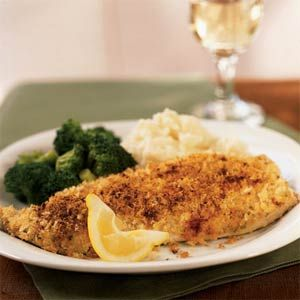 Mustard and Herb-Crusted Trout Recipe   MyRecipes.com Mobile