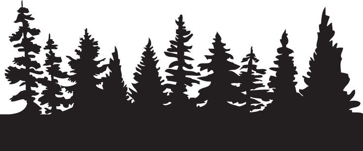 silhouette of pine trees clipart - ClipartFest