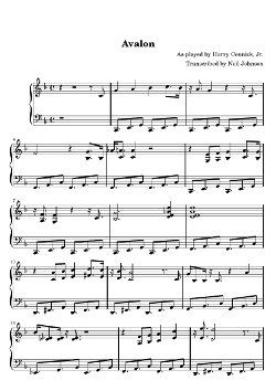 EASY PIANO JAZZ MUSIC SHEET