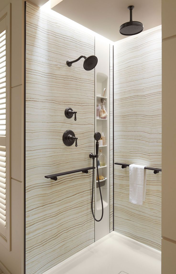 10 product standouts at kbis 2015 for Neutral bathroom tile designs